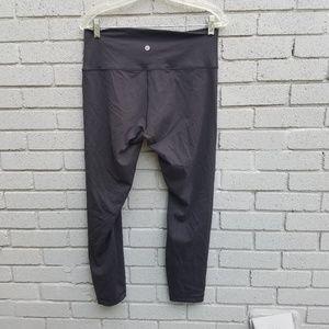LULULEMON wunder under black crop leggings 12